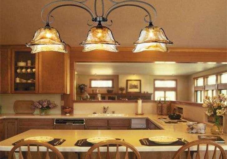 Rustic Pendant Lighting Kitchen Island